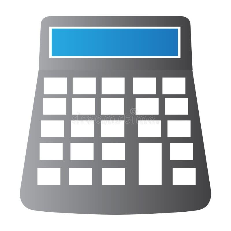 Odosobniona kalkulator ilustracja ilustracja wektor