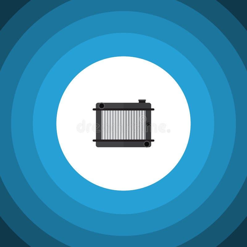 Odosobniona Kaloryferowa Płaska ikona Nagrzewacza Wektorowy element Może Używać Dla grzejnika, nagrzewacz, cieplarka projekta poj ilustracji
