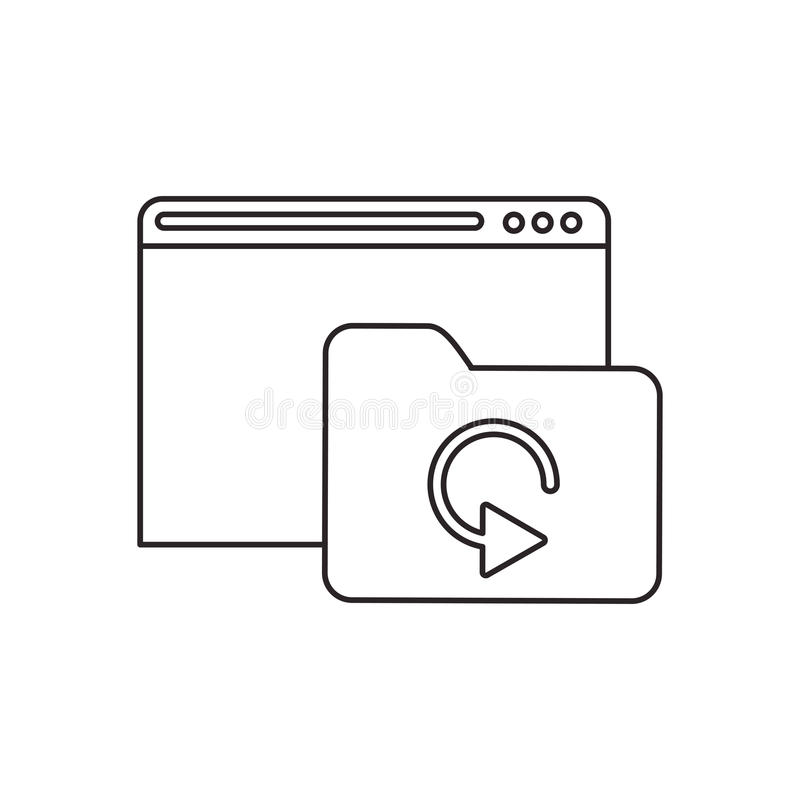 Odosobniona kartoteki strona internetowa i baza danych projekt ilustracji