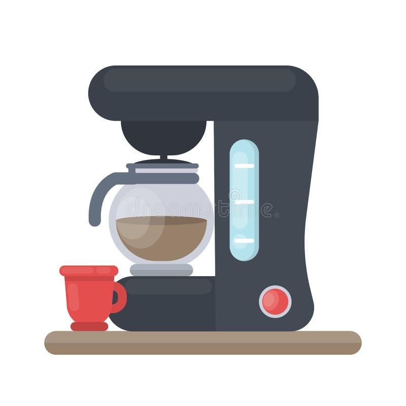 Odosobniona kawowa maszyna ilustracja wektor