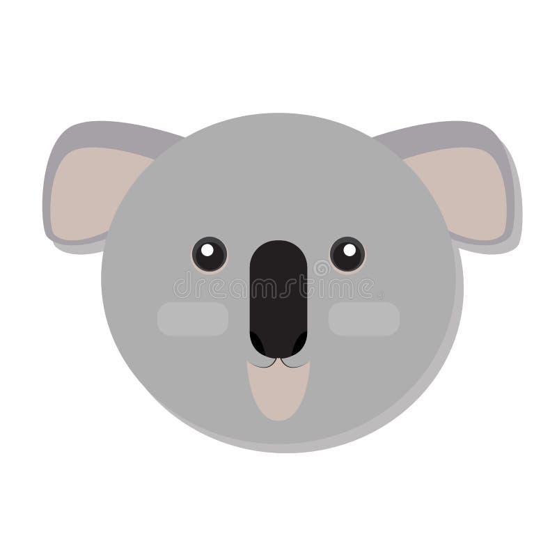 Odosobniona koali twarz ilustracja wektor