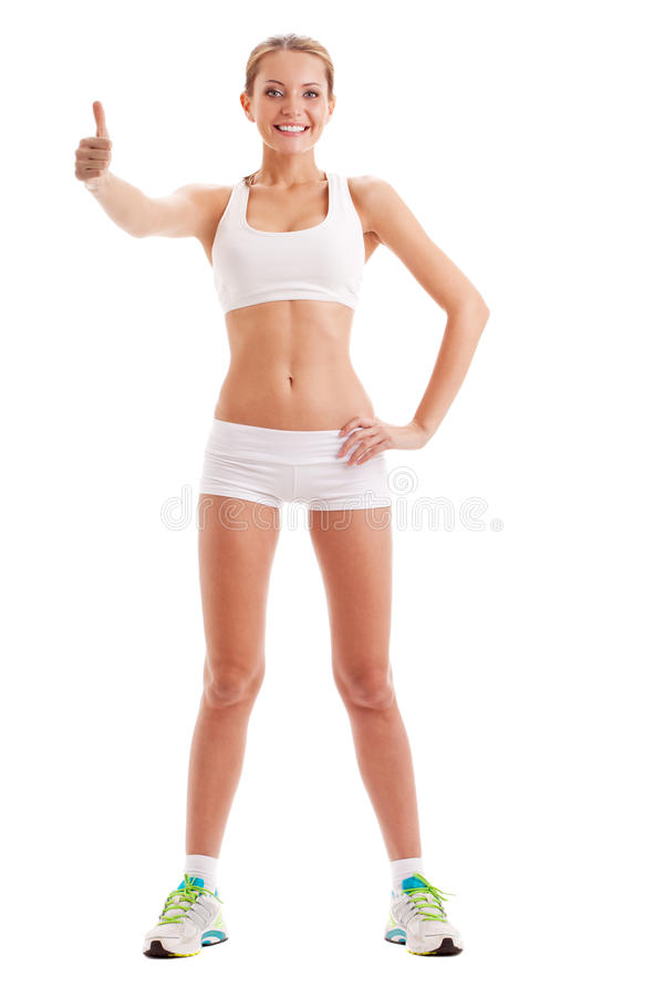 Odosobniona kobieta jest ubranym sportswear fotografia royalty free