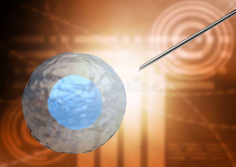 Odosobniona komórki macierzystej terapia dla traktowania choroby ciało ludzkie royalty ilustracja