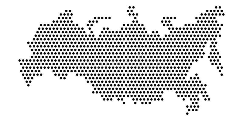 Odosobniona kropkowana polityczna mapa Rosja ilustracja wektor