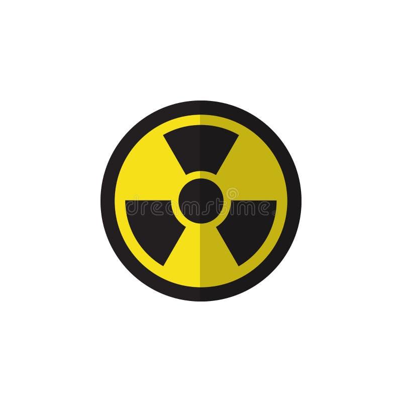 Odosobniona napromieniania mieszkania ikona Irradiacja Wektorowy element Może Używać Dla irradiaci, napromienianie, Niebezpieczny royalty ilustracja