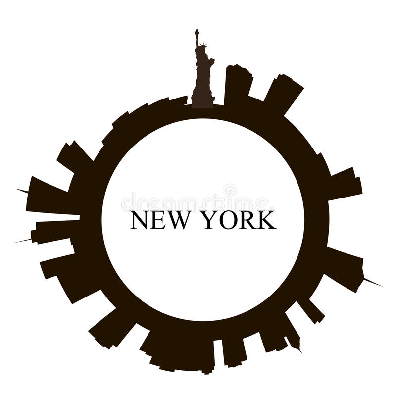 Odosobniona Nowy Jork miasta linia horyzontu royalty ilustracja