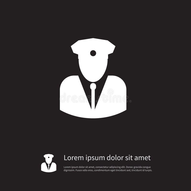 Odosobniona ochroniarz ikona Faktorski Wektorowy element Może Używać Dla agenta, ochrona, mężczyzna projekta pojęcie ilustracji
