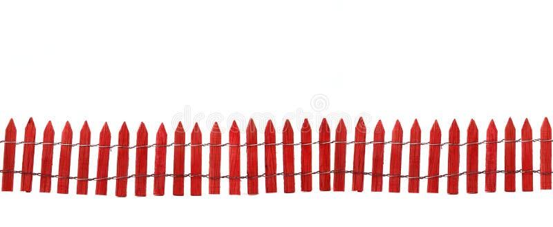 odosobniona ogrodzenie czerwień zdjęcie stock