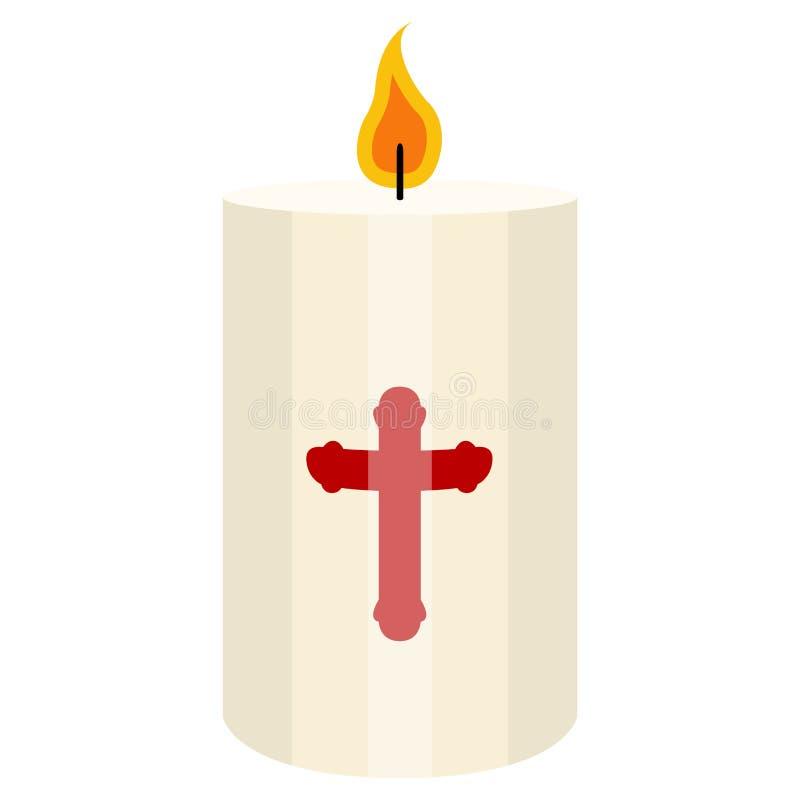 Odosobniona Paschalna świeczka ilustracji