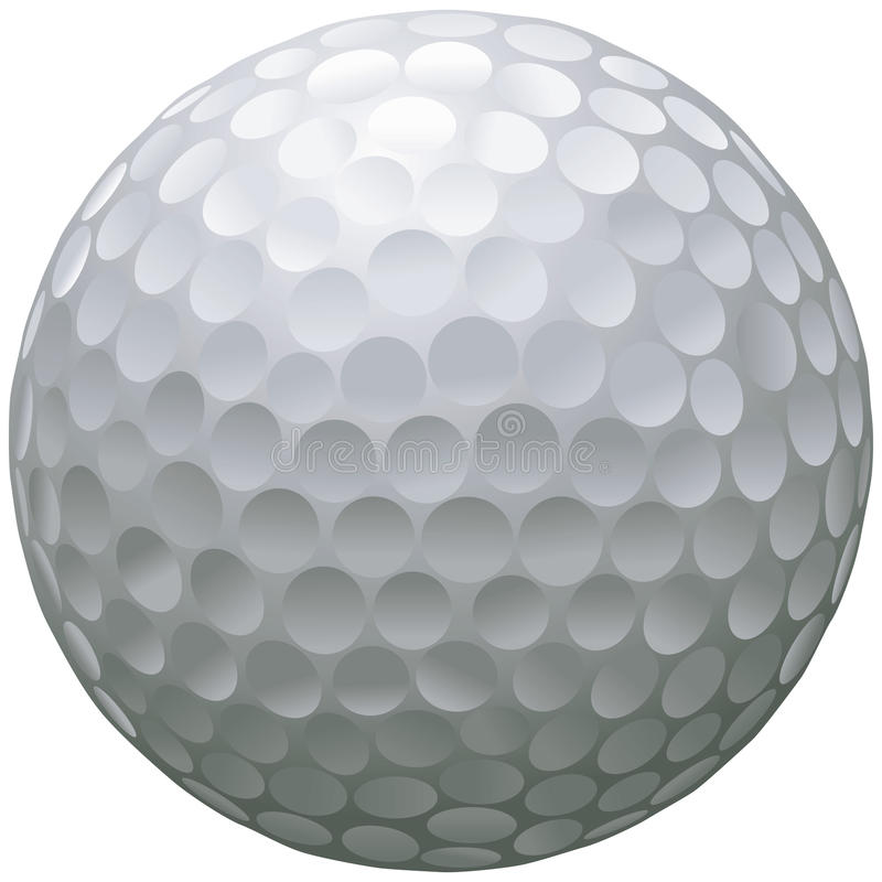 Odosobniona piłka golfowa ilustracja wektor