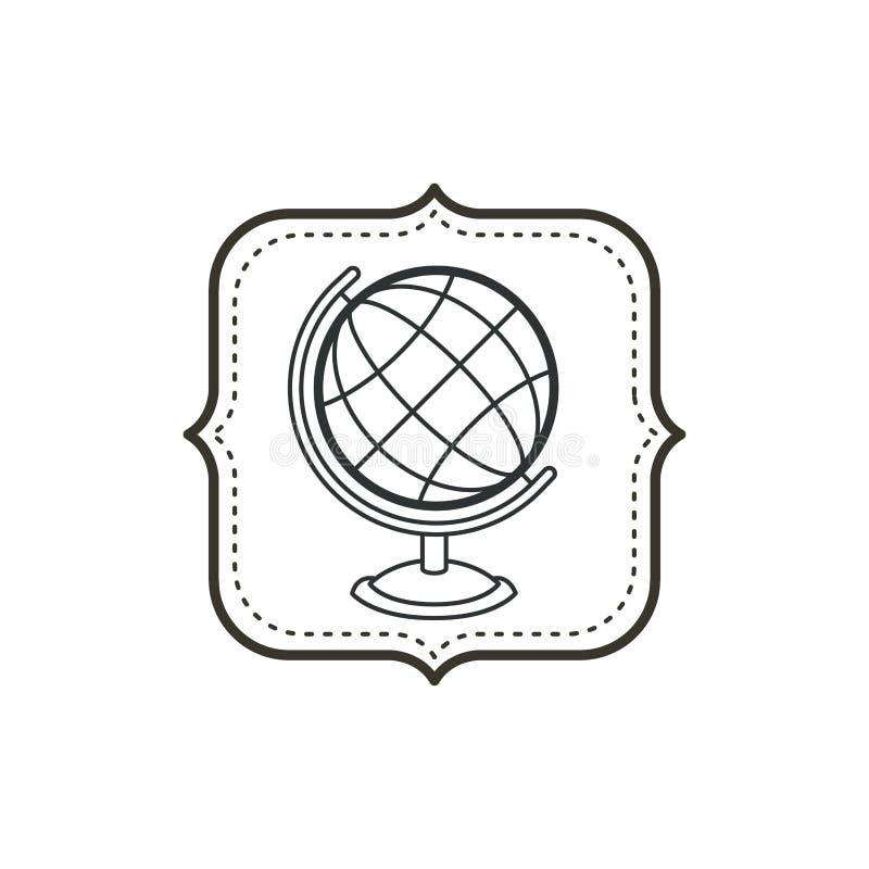 Odosobniona planety sfera szkolny pojęcie projekt royalty ilustracja