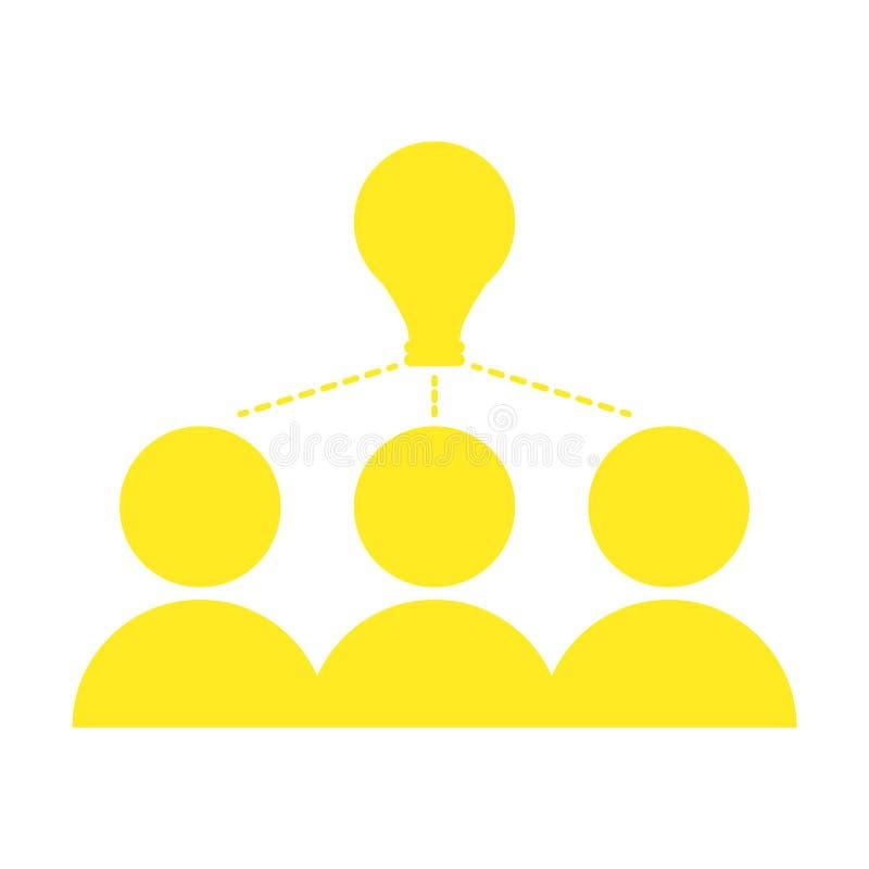 Odosobniona pracy zespołowej ikona brainstorming royalty ilustracja