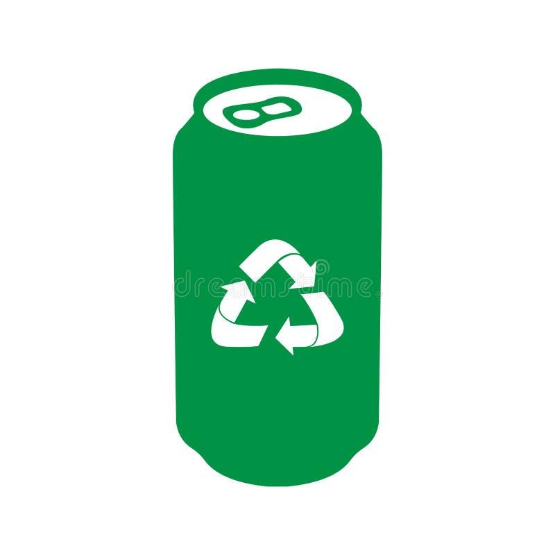 Odosobniona recyclable ikona ilustracja wektor