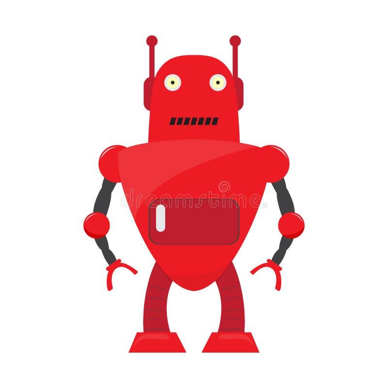 Odosobniona robot zabawka - wektor royalty ilustracja