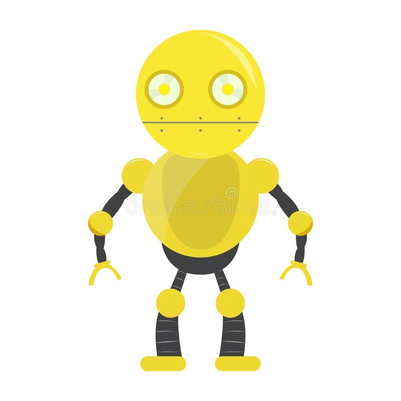 Odosobniona robot zabawka - wektor ilustracji