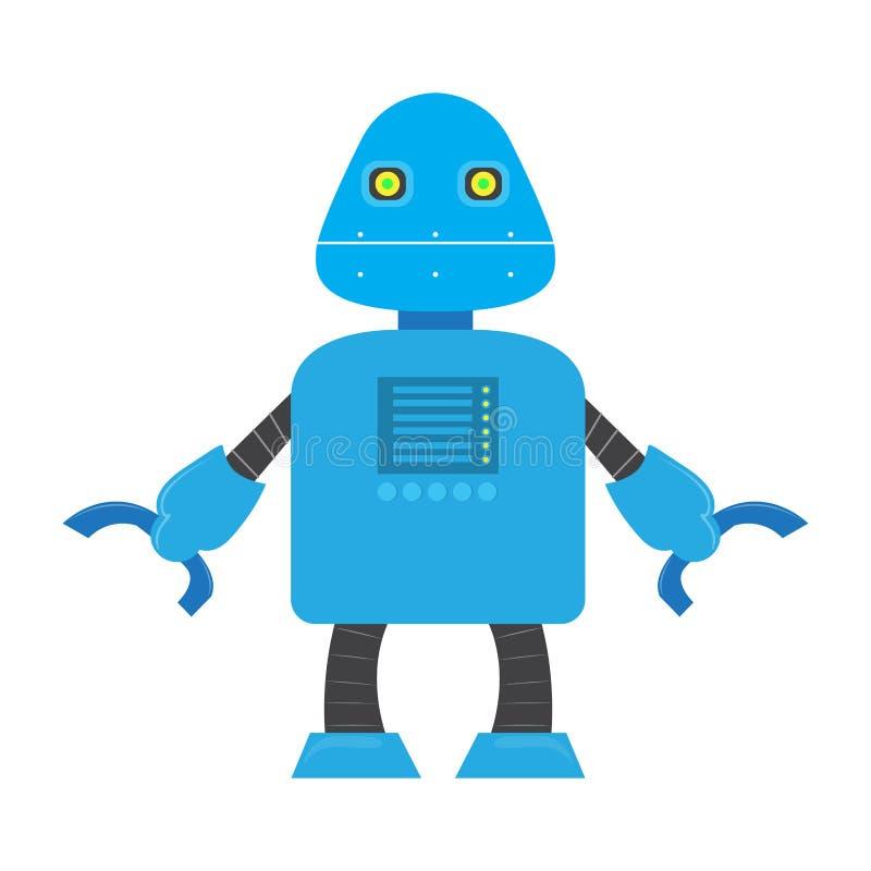 Odosobniona robot zabawka - wektor ilustracja wektor