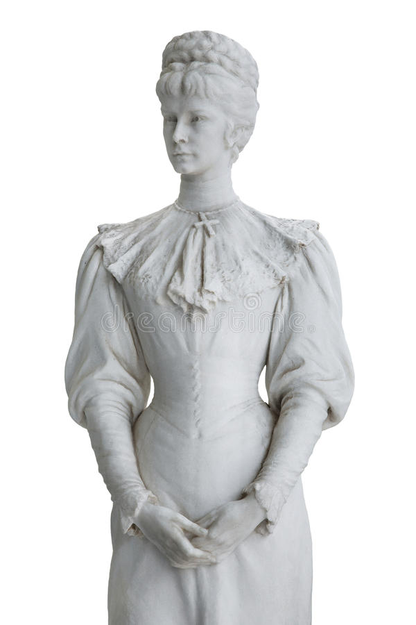 Odosobniona statua imperatorowa Elisabeth II od Austria w Corfu przy fotografia stock