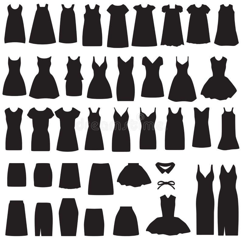 odosobniona sukni i spódnicy sylwetka ilustracji