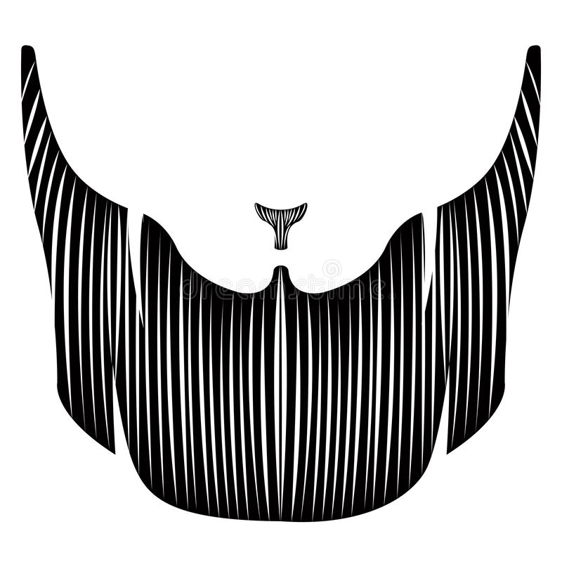 Odosobniona szczegółowa broda royalty ilustracja