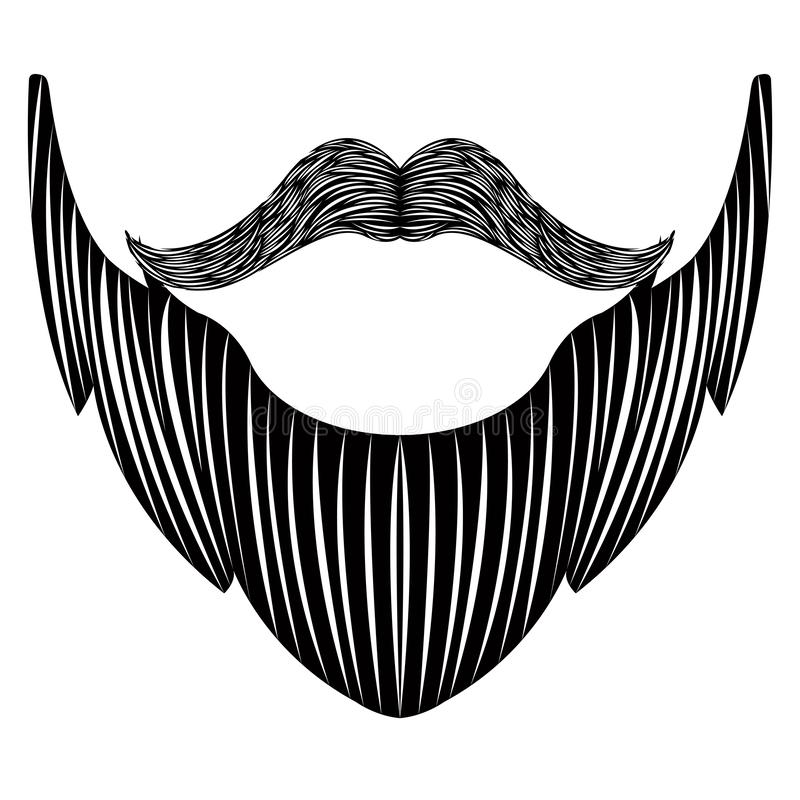 Odosobniona szczegółowa broda ilustracji