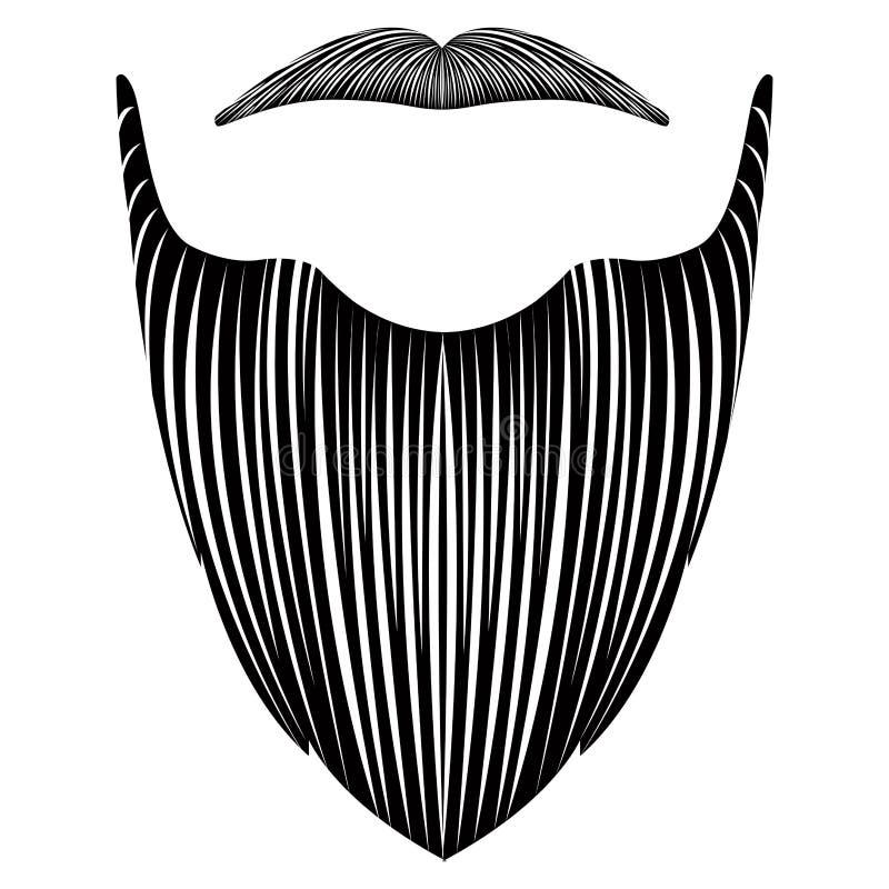 Odosobniona szczegółowa broda ilustracja wektor