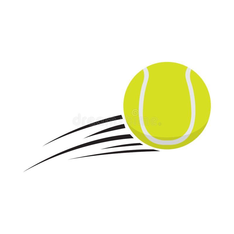 Odosobniona tenisowa piłka z skutkiem
