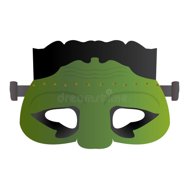 Odosobniona undead maska royalty ilustracja