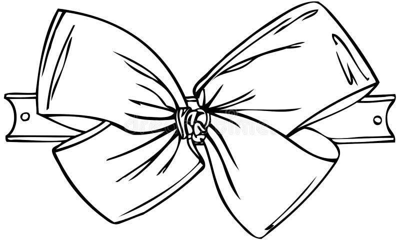 Odosobniona Wektorowa ilustracja Tasiemkowy łęk royalty ilustracja
