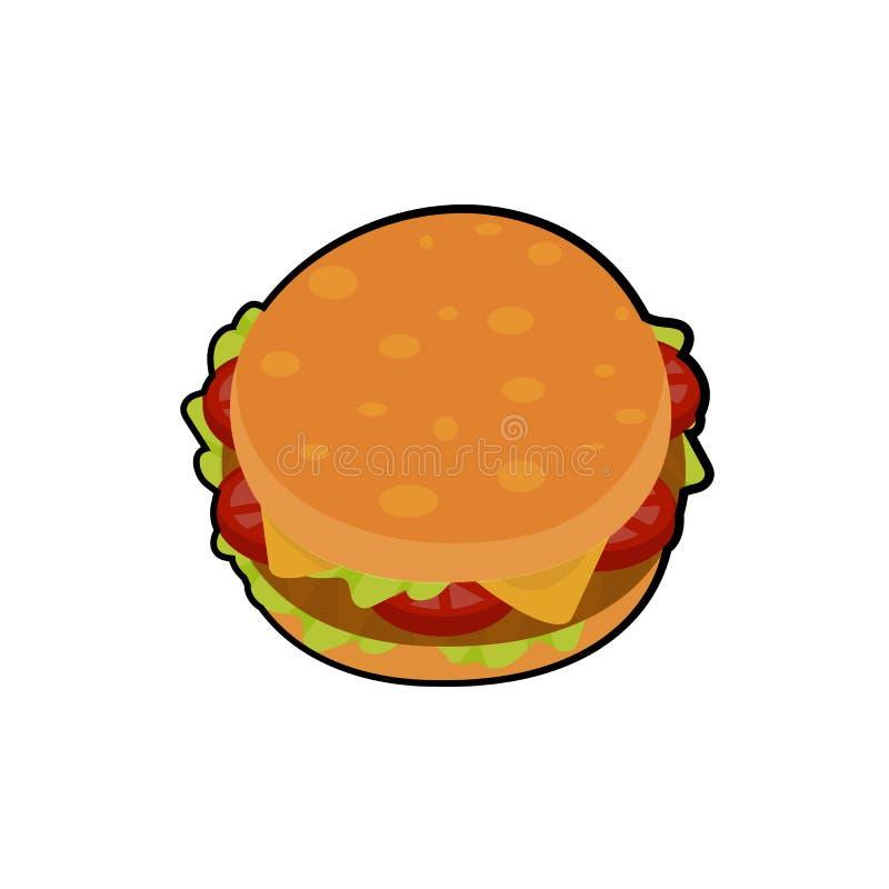 Odosobniona wektorowa ilustracja wyśmienicie hamburger ilustracja wektor