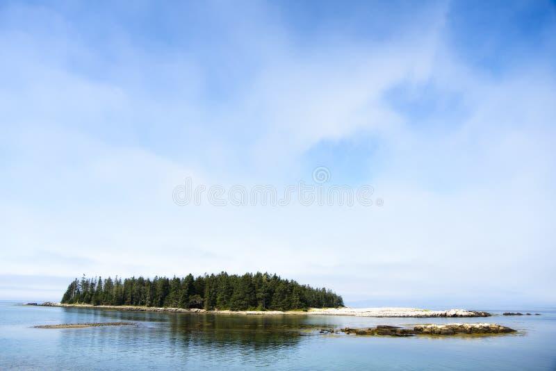 Odosobniona wyspa - Acadia park narodowy obraz stock