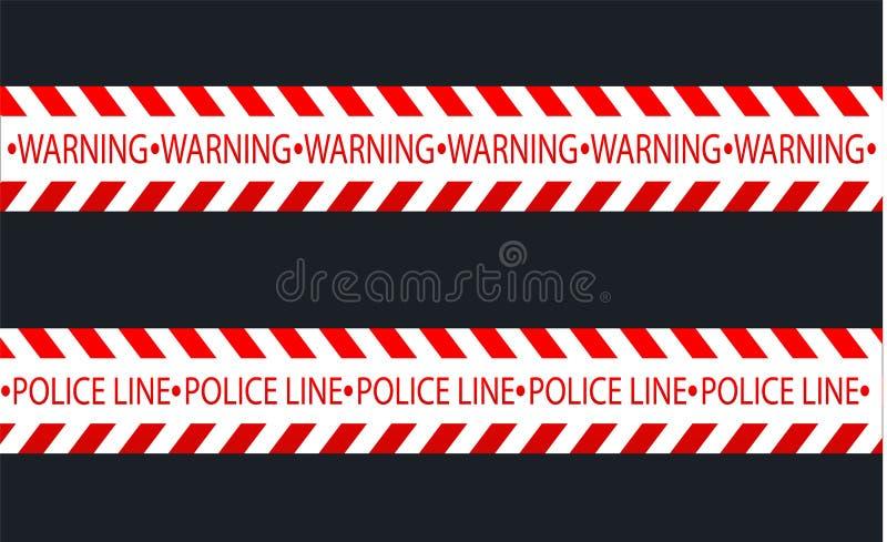 Odosobnione linie izolacja Realistyczne ostrzegawcze taśmy Znaki niebezpieczeństwo Wektorowa ilustracja, odizolowywająca na komór ilustracja wektor
