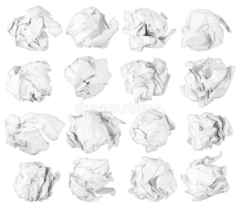 Odosobnione papierowe piłki fotografia stock