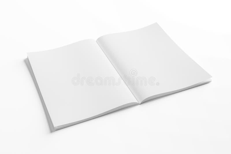 Odosobnionego bielu magazynu otwarty mockup na bia?ym 3D renderingu ilustracji