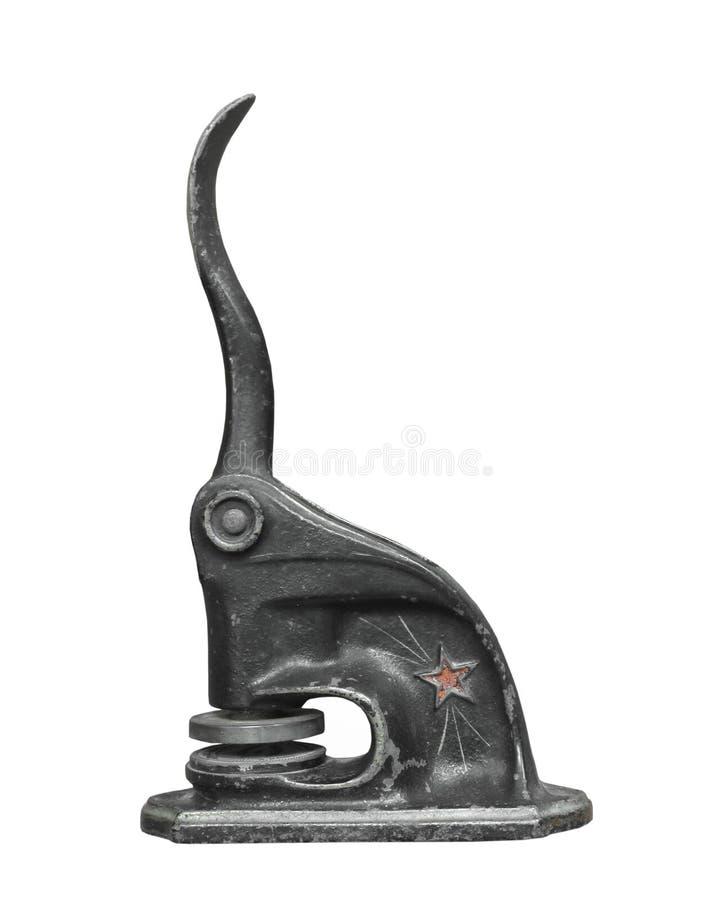 odosobnionego metalu stary foki znaczek zdjęcie stock