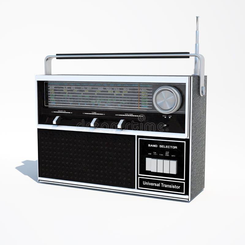 Odosobnionego rocznika zespołu radia 3d światowa ilustracja ilustracja wektor