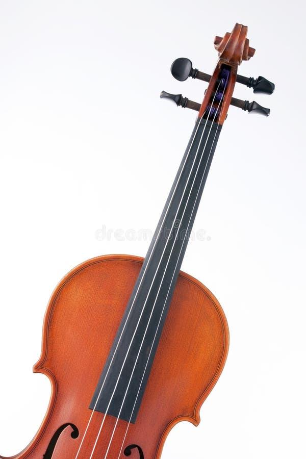 odosobnionej altówki skrzypcowy biel obraz stock