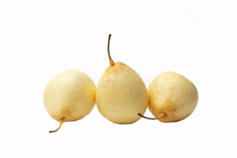Odosobnionej chińskiej bonkrety azjatykcia bonkreta, ya bonkreta, koreańska owoc, nashi na białym tle obraz stock