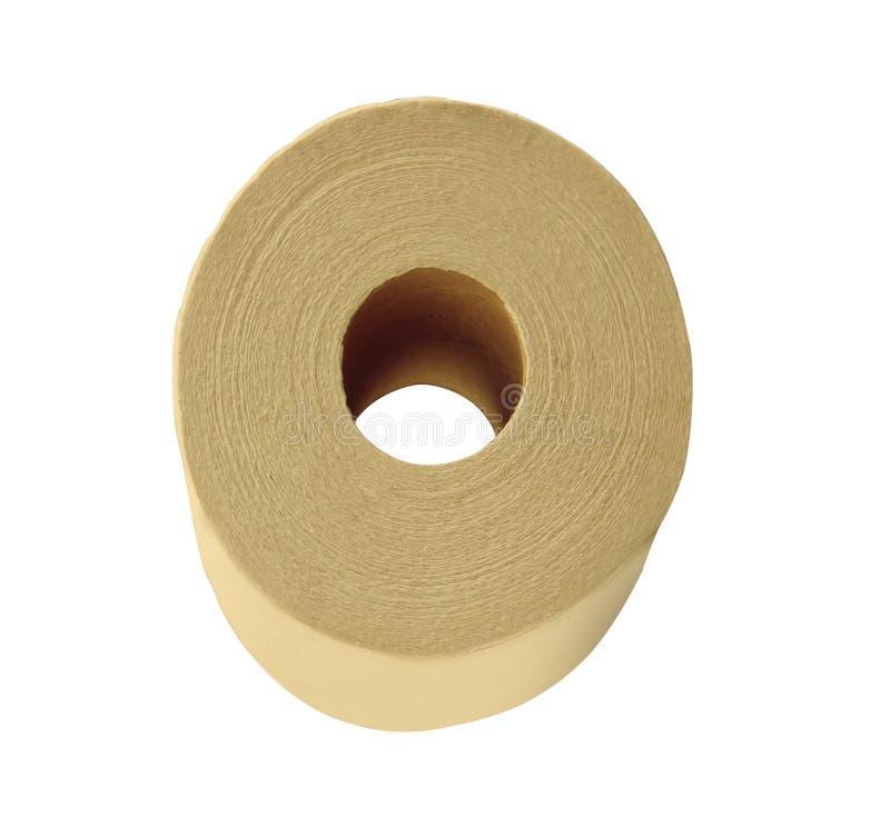 odosobnionej papierowej rolki toaletowy biel obrazy stock
