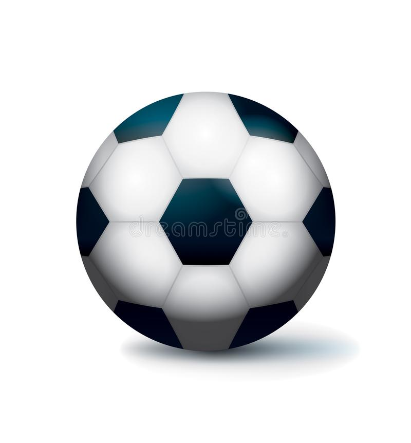 Odosobnionej piłki nożnej Futbolowa Balowa ilustracja royalty ilustracja