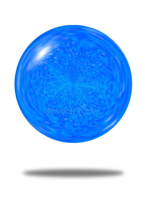Odosobniony świąteczny abstrakt błękitny błyskotliwości piłki tło zdjęcia stock