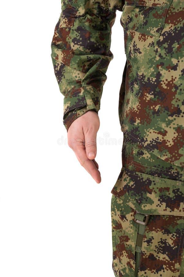 odosobniony żołnierz zdjęcia stock