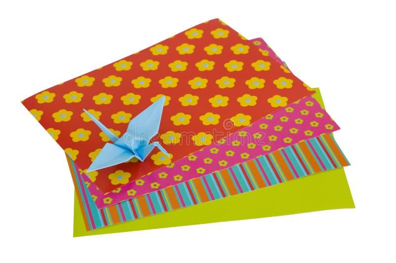 odosobniony żurawia origami fotografia royalty free