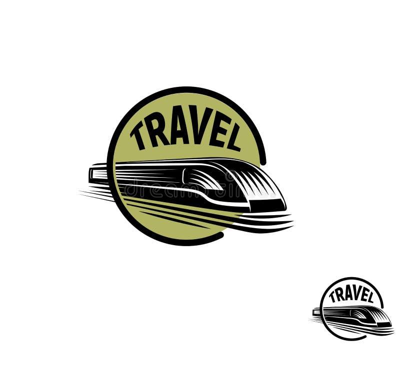 Odosobniony abstrakcjonistyczny round kształta czerni koloru pociąg w zieleni ramy logu na białym tle, monochromatyczna nowożytna royalty ilustracja