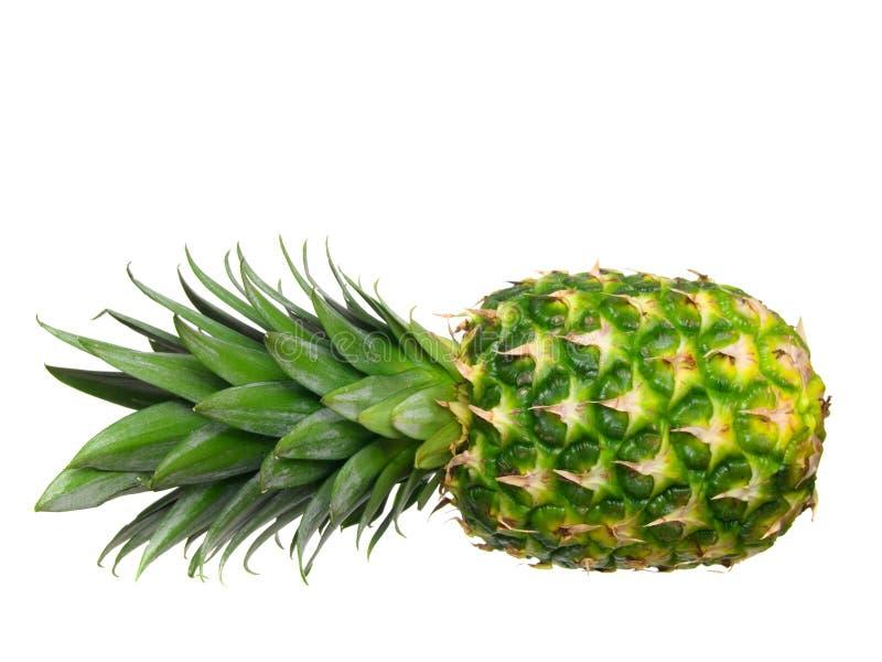 odosobniony ananasowy dojrzały biel zdjęcie stock