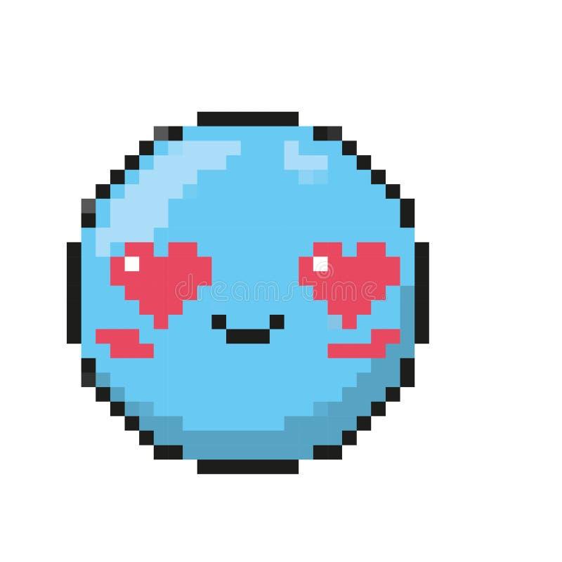 Odosobniony błękitny emoticon projekt ilustracja wektor