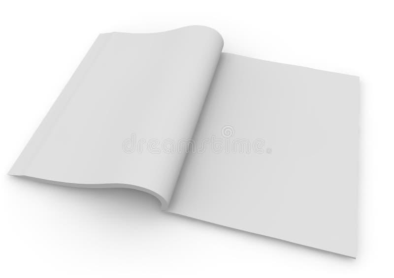 odosobniony biały magazynu 3d rendering ilustracji