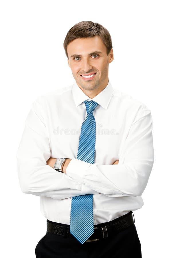 odosobniony biznesmena biel zdjęcia stock