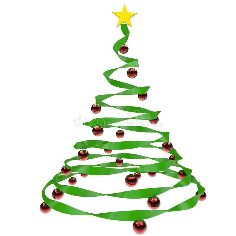 odosobniony Bożego Narodzenia drzewo royalty ilustracja
