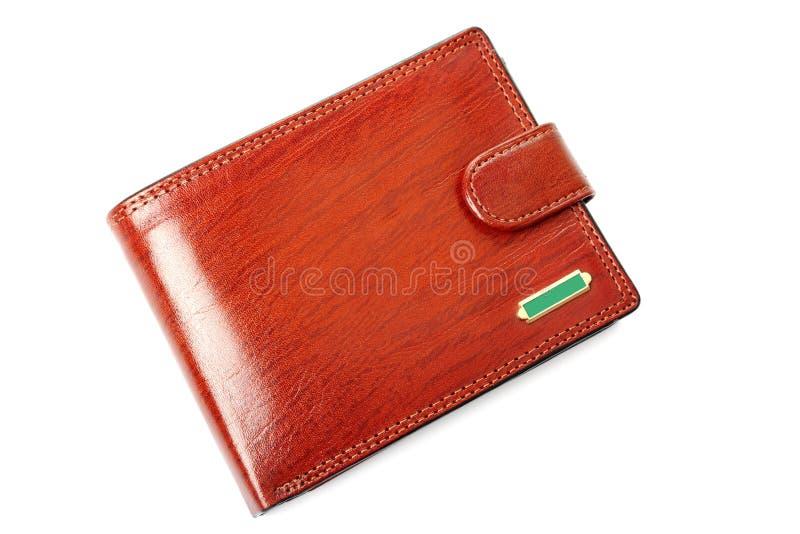 odosobniony brąz portfel fotografia stock