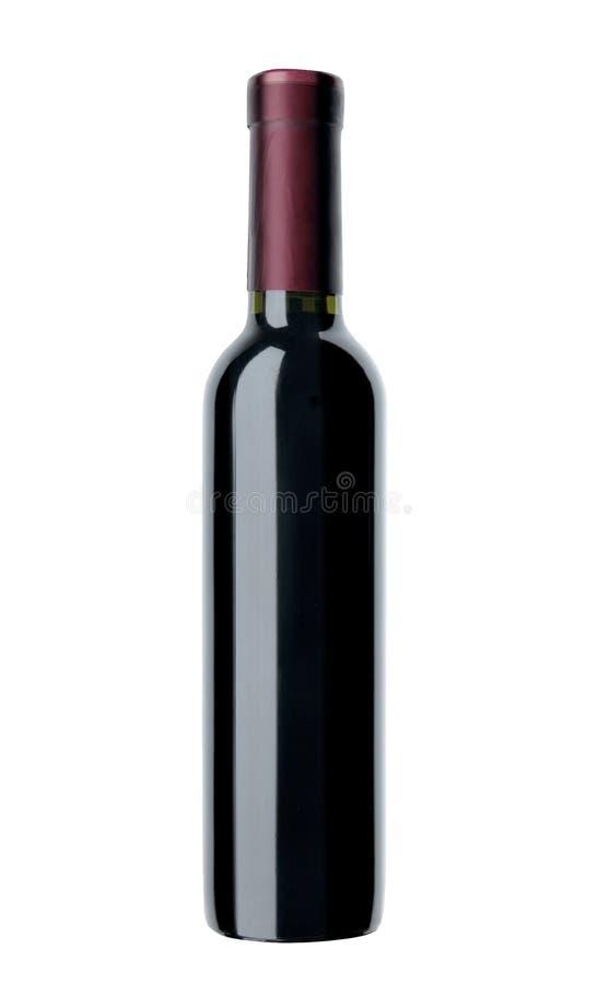 odosobniony butelki czerwone wino obrazy stock
